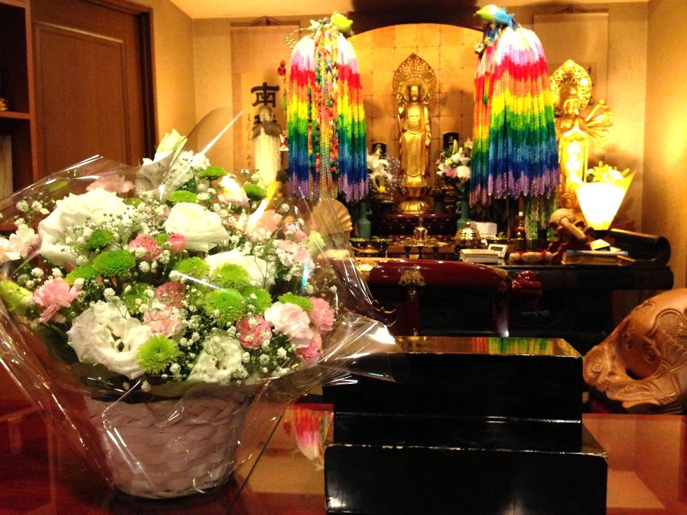 大阪府の方からお花が届きました