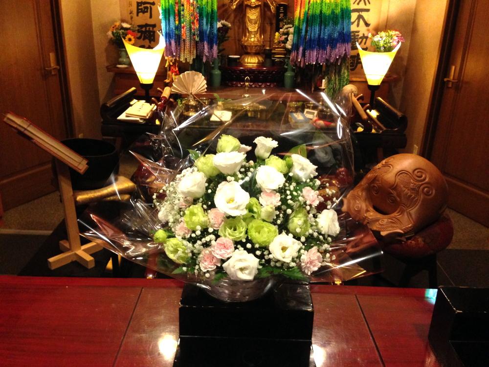 大阪府八尾市の方からお花が届きました