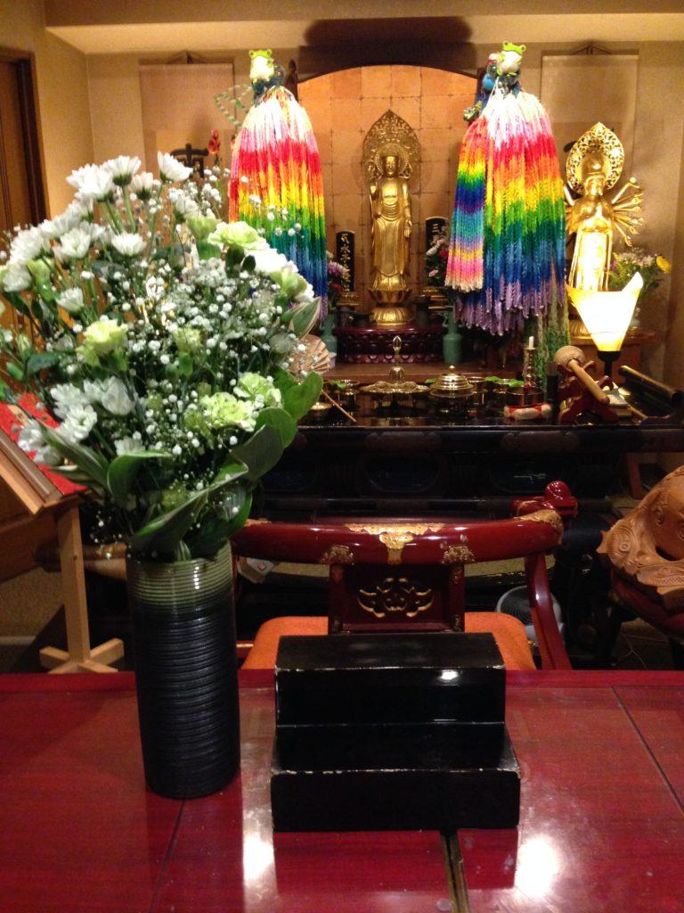 東京都の方よりお花が届きました