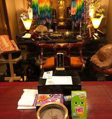 ホームページ水子供養をお申込されている千葉県の方からお供え物のお菓子が届きました