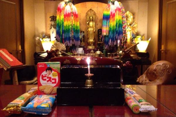 青森県の方よりお供物のお菓子が届きました