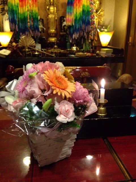 佐賀市の方よりお花が届きました