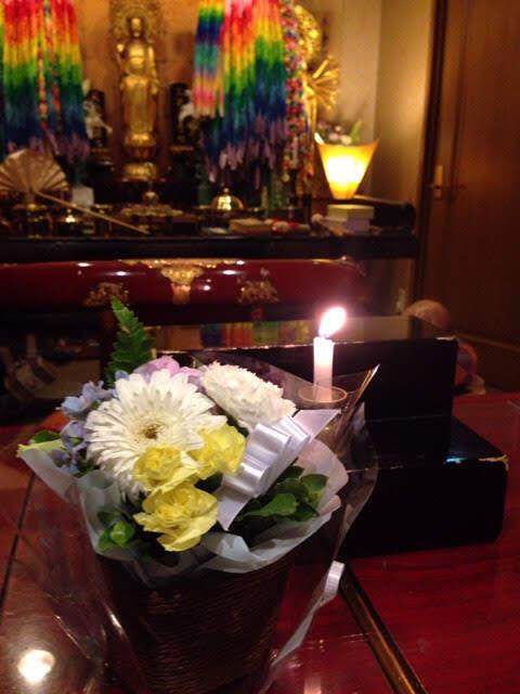 埼玉県の方よりお花が届きました