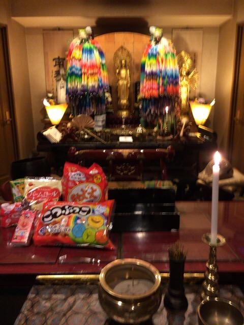 横浜の方よりお供物が届きました。