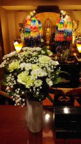 茨城県の方よりお花が届きました