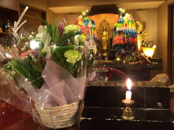 北海道の方よりお花が届きました