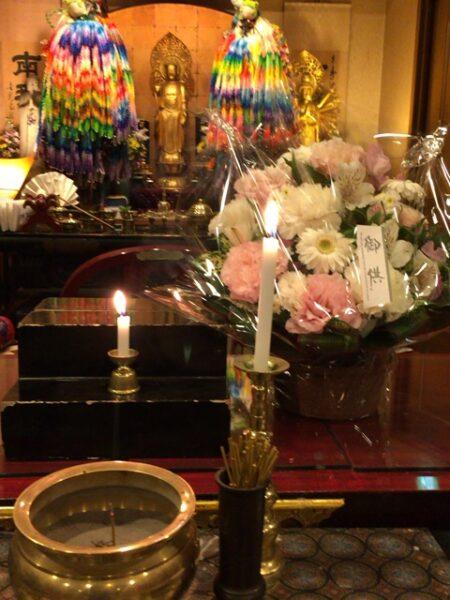 カリフォルニア州よりお花が届きました。
